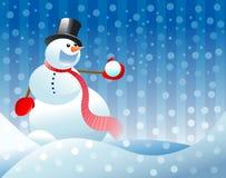 Christmas snowman illustration Stock Photos