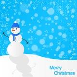 Christmas snowman illustration. Colorful illustration stock illustration