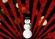 Christmas snowman illustration Royalty Free Stock Photography
