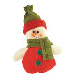 Christmas snowman isolated on white Stock Photography