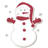 Christmas  snowman isolated on white background Royalty Free Stock Images