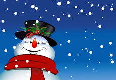 Christmas snowman merry Royalty Free Stock Photo