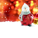 Christmas and snowman Royalty Free Stock Image