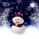 Christmas snowman. Snowman New Year's Eve. winter Royalty Free Stock Photography