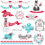 Christmas Snowman and New Year Theme Royalty Free Stock Photos