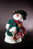 Christmas snowman plush toy Stock Images