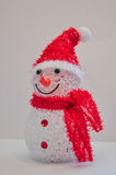 Christmas, snowman. Christmas snowman in a red cap Stock Photography