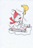The Christmas snowman Stock Photography