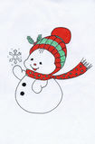 The Christmas snowman Stock Photo