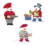 Christmas snowman's  Royalty Free Stock Photo