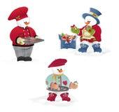 Christmas snowman's royalty free stock photo