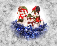 Christmas snowman with scarf Stock Photography