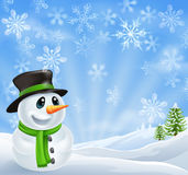 Christmas Snowman Scene Royalty Free Stock Image