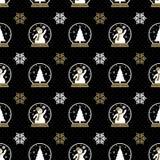 Christmas Snowman Seamless vector illustration