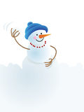 Christmas snowman and snowball Royalty Free Stock Images