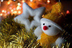 Christmas snowman and star Stock Photo