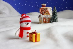 Christmas Snowman - Stock Photo Stock Photo