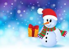 Christmas snowman theme image 3 Stock Image