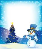Christmas snowman theme image 5 Stock Image