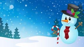 Christmas snowman theme image 9 Royalty Free Stock Photo
