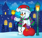 Christmas snowman topic image 2 Royalty Free Stock Photography