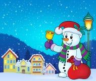 Christmas snowman topic image 7 Royalty Free Stock Photo