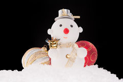 Christmas snowman toy Royalty Free Stock Images