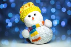 Christmas snowman toy Stock Photos