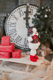 Christmas snowman toy royalty free stock photography