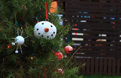 Christmas Snowman tree decoration Stock Images