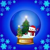 Christmas Snowman Vector Stock Image