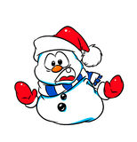 Christmas Snowman warning  stop Royalty Free Stock Images