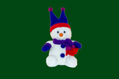 Christmas - Snowman Wearing a Hat, Scarf and Gloves Royalty Free Stock Photo