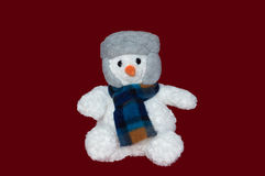Christmas - Snowman wearing a Hat and Scarf Stock Photo