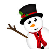 Christmas Snowman on white background Royalty Free Stock Photography