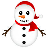 Christmas Snowman on white background vector Stock Photography