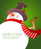 Christmas Snowman wiht red scarf Stock Photos