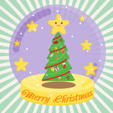 Christmas. Snowman winter snow christmas cartoon Royalty Free Stock Photography
