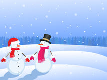 Christmas snowmans Stock Photos