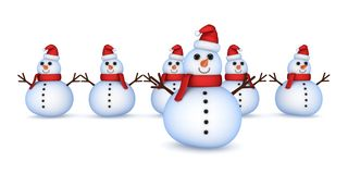 Christmas snowmans. Royalty Free Stock Image