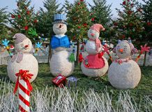 Christmas snowmen Stock Images