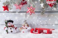 Christmas snowmen decoration Stock Images