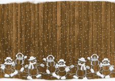 Christmas, Snowmen, Rustic, Snow Royalty Free Stock Images