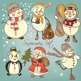 Christmas snowmen Royalty Free Stock Photo