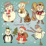 Christmas snowmen Royalty Free Stock Photo