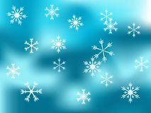 Christmas snowy background Stock Photo