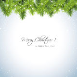 Christmas snowy background Royalty Free Stock Images
