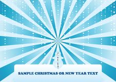 Christmas snowy background Stock Images