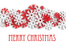 Christmas snowy background with snowflakes Stock Photo