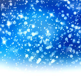 Christmas snowy background with white stars Stock Photography